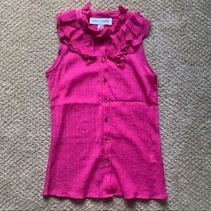 Sara Campbell Pink Button Down Blouse